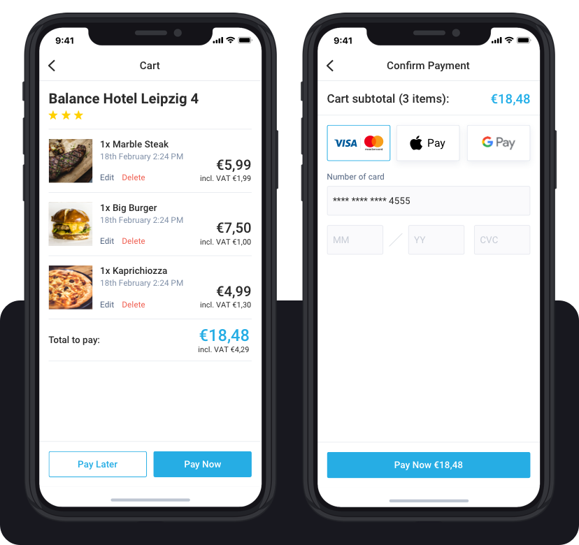 Let your guests choose how to pay