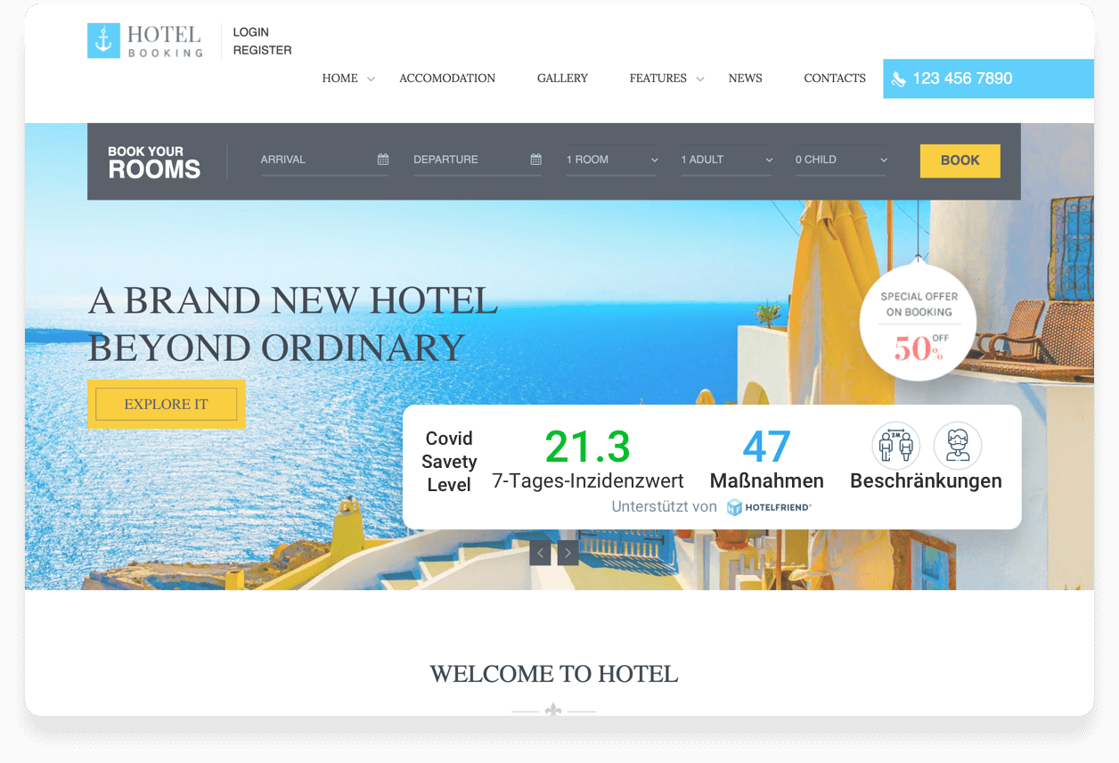 Сovid Safety Rating by HotelFriend