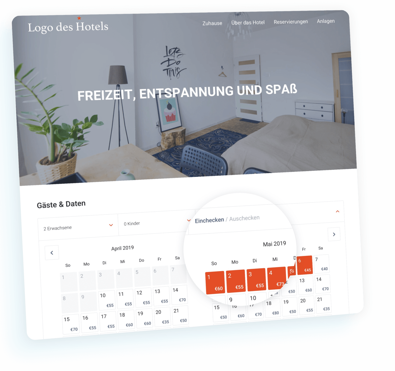 ready-to-use hotel website