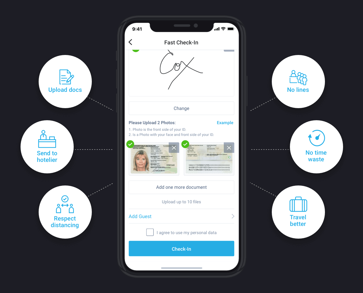 mobile self check-in